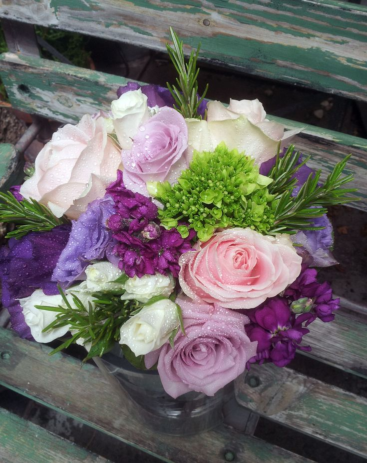 Bridal Bouquet of soft lavender and pinks.