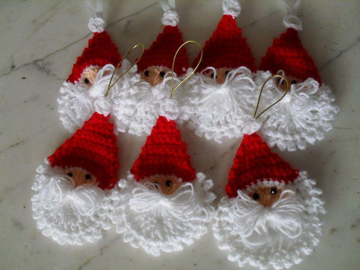 Papanoel cara navidad pinterest - Manualidades de ganchillo para navidad ...
