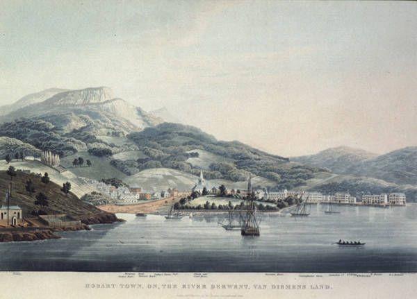 Hobart Town, on the River Derwent, Van Diemen's Land