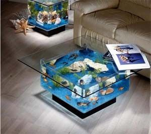 """Coffee Table Aquarium.  25 gallons, and only $660! (note sarcasm at the use of """"only,"""" though I *would* LOVE to own this)"""