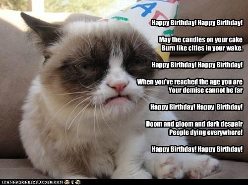 Grumpy Cat Happy Birthday Cats