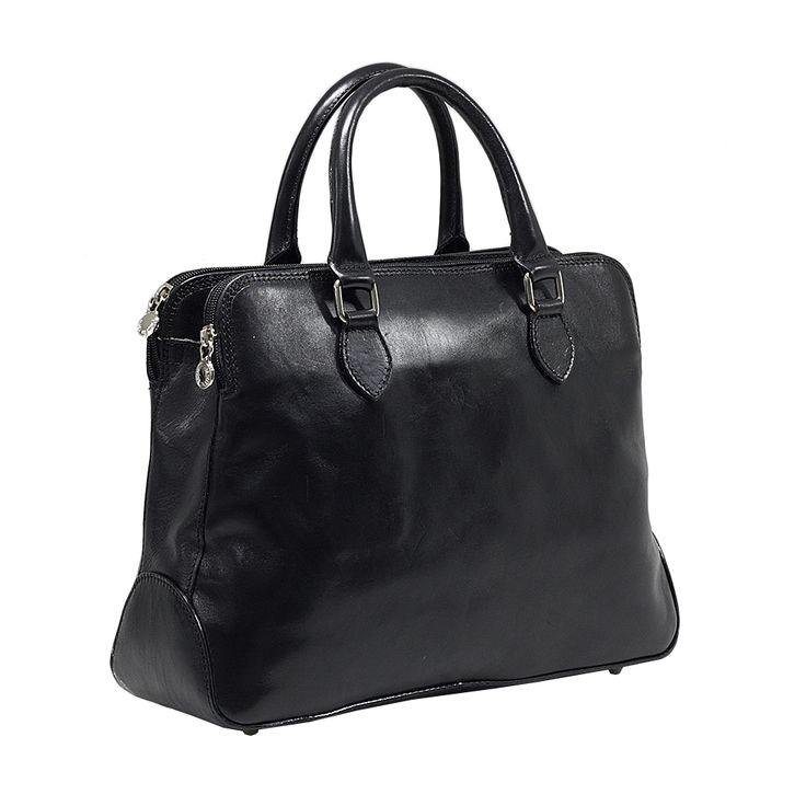 Geanta casual dama cu trei compartimente 5539D FRATELLI geanta casual de dama din piele naturala vachetta