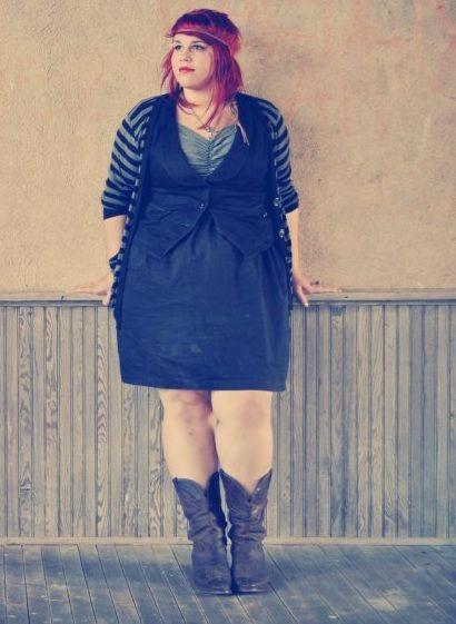 US 18/20 Dress and Vest-Lane BryantCardigan- Forever 21 http://effervescent-everyday.tumblr.com/