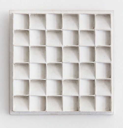 blueberrymodern:    Jan Schoonhoven - Dutch artist painted cardboard