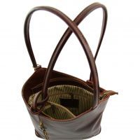 Outlet Italian Leather Bags Patty Leather Convertible Bag Tl140691