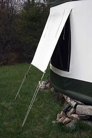 adjustable awnings #yurt
