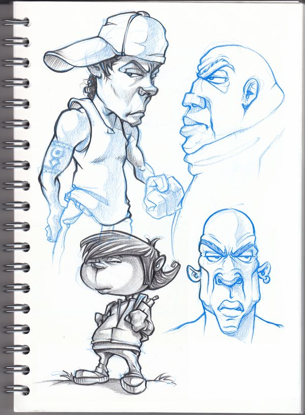 Pencil sketches by rigo velez, via Behance