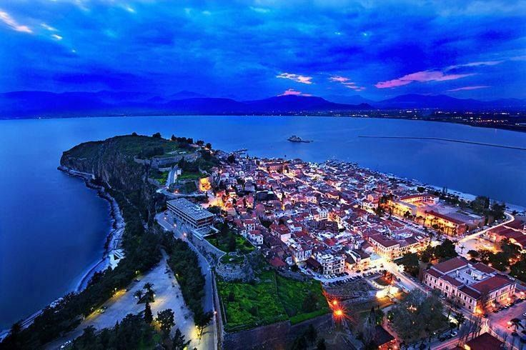 Nafplion at night.. Greece..