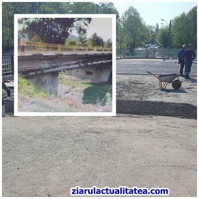 -FOTO- Podul de la Mănăstire: înainte de lucrări și astăzi