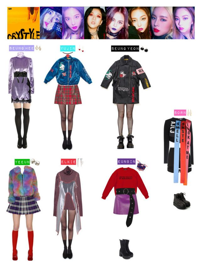 """""""CLC - HOBGOBLIN❤️💙💜💚💛"""" by vvvan99 on Polyvore featuring Pretty Polly, Alessandra Rich, Au Jour Le Jour, Music Legs, Dr. Martens, Alexander Wang, T By Alexander Wang, Bobby Kolade, Dorothee Schumacher and Betsey Johnson"""