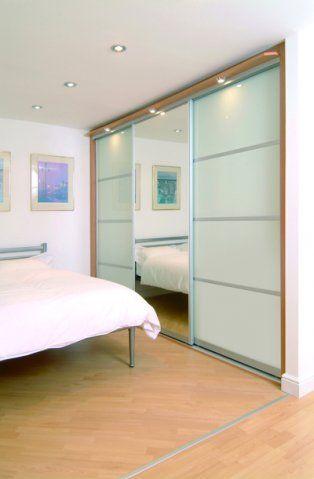 White Glass and Mirror Sliding Door Wardrobe. Browse more Sliding Door Wardrobes Design at https://www.metrowardrobes.co.uk/sliding-door-wardrobes/