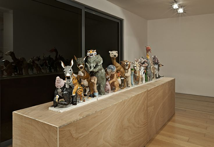 "Bernier/Eliades Gallery | Dionisis Kavallieratos | November 22, 2012 - January 17, 2013 |""Lets do the Locomotion"", 2012 | Ceramic | 81 x 40 x 330 cm | Photo by Boris Kirpotin"