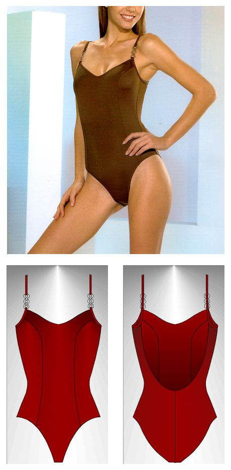 Swimsuit sewing pattern Mikonos - Patrón de traje de baño Mikonos
