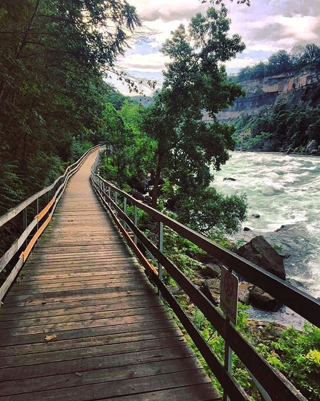 This Breathtaking Boardwalk Runs Along The Edge Of A White Water Rapid In Ontario