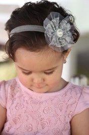 Lace Pearl Headband - My Baby Headbands