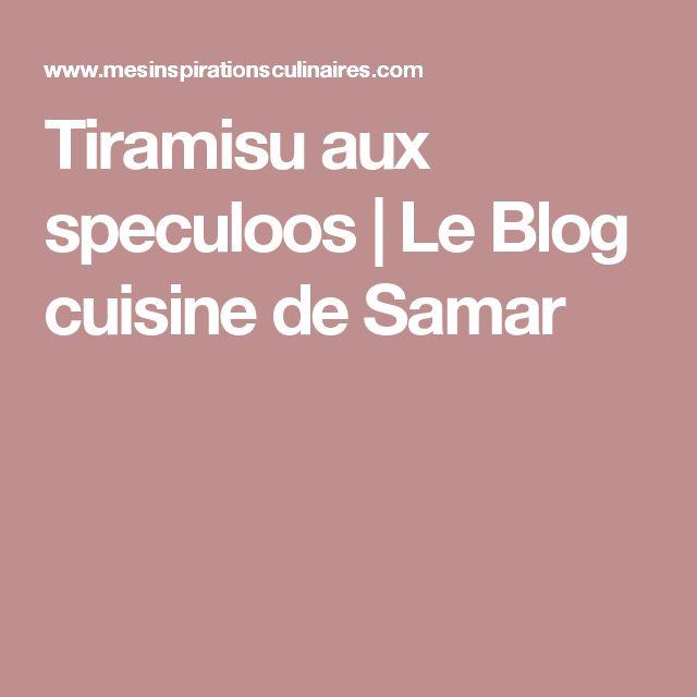 Tiramisu aux speculoos   Le Blog cuisine de Samar