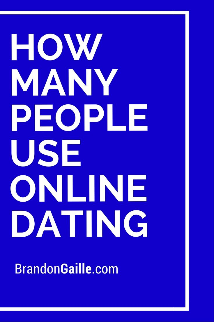 Percentage of singles using online dating