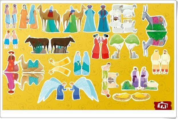 """""""Recorta las figuras del Belén"""" de forma virtual para componer el pesebre en la noche del nacimiento y animarlo con movimientos y música. Juego de croire.bayardcdn.com."""