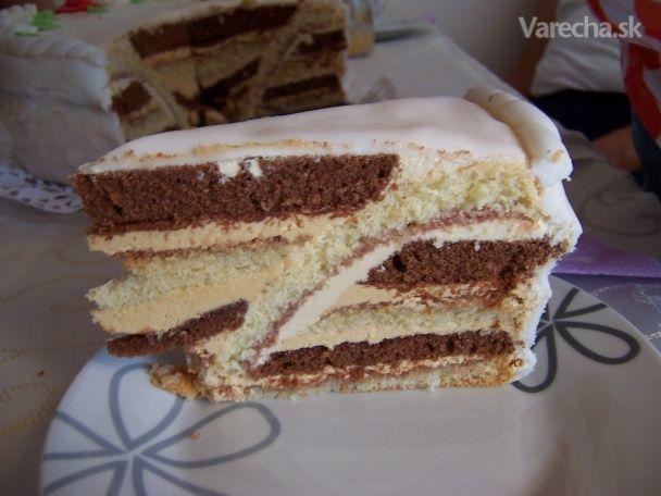 Takúto tortu som videla na jednej oslave. Keďže k receptu, teda hlavne k postupu  zhotovenia torty som sa nedostala, skúsila som to po svojom. Pripravila som si ju na oslavu  narodenín a môžem povedať, že všetkým veľmi chutila. No a preto je tu, možno ju niekto  pozná a poradí mi.