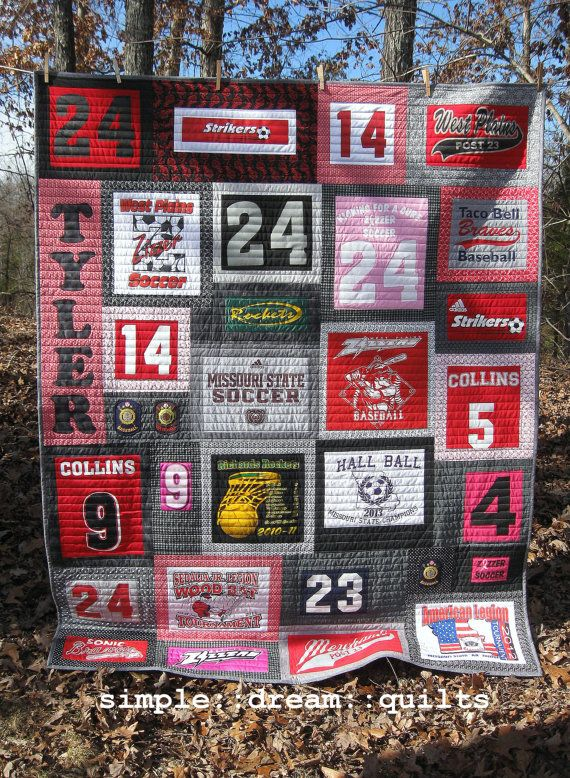 Best 25+ Jersey quilt ideas on Pinterest | Sports quilts, Top kids ... : t shirt quilt kit - Adamdwight.com