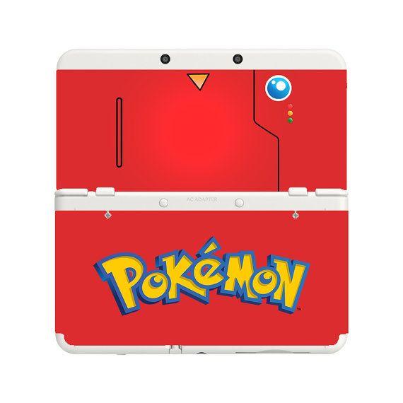 Custom Printed Pokemon Pokedex New Nintendo 3DS Faceplate Pair Cover Plates