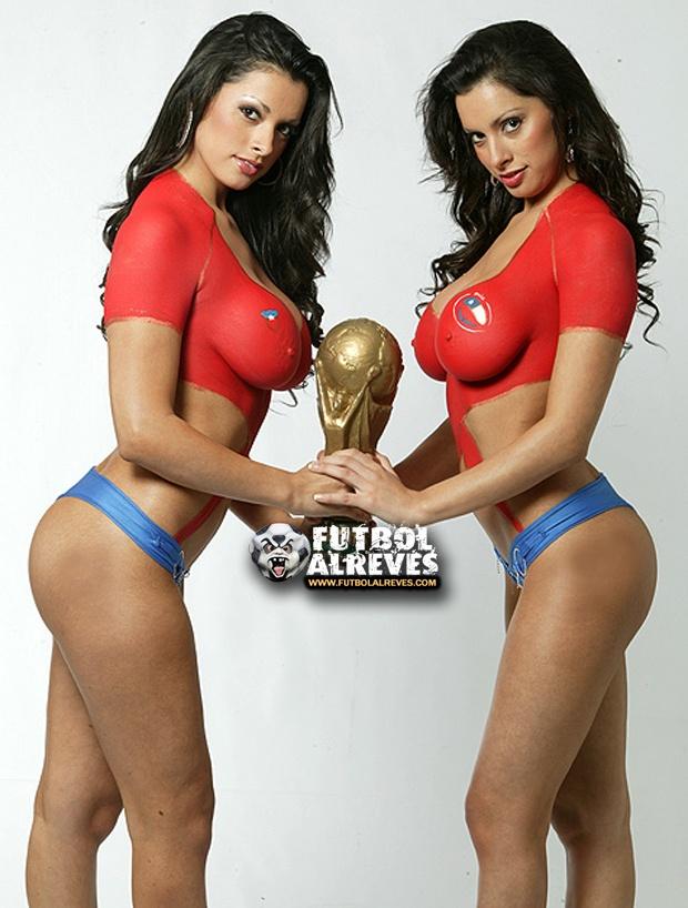 Selección de Chile 3 | Gemelas Body Paint.