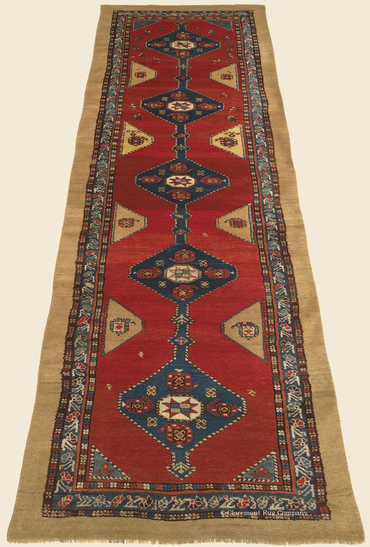 """NORTHWEST, Northwest Persian Antique 3' 4"""" x 11' 0"""" — Circa 1900 Rug - Claremont Rug Company  Click to learn more about this rug."""