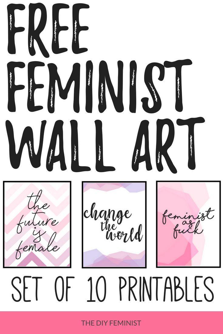 Fun Colorful Printables Printable Wall Art Wall Art Feminist