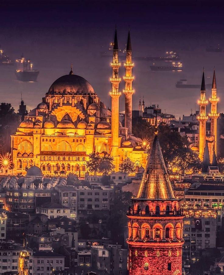Kubbeler Şehri İstanbul _ Domes of the city of Istanbul (Galata Tower and Suleymaniye Mosque )  // Photography by Cemil Şahin (@cemilsahinyztr)