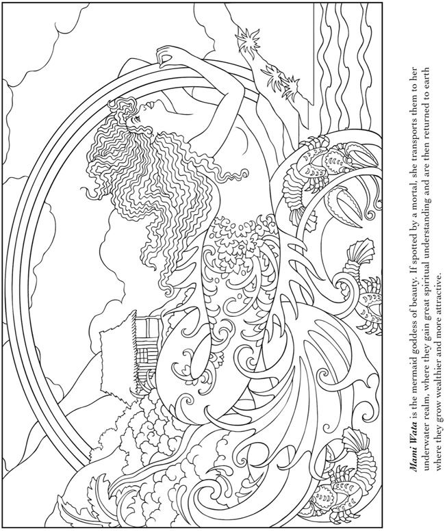 504 best coloring pages images on pinterest coloring Mermaid coloring book for adults