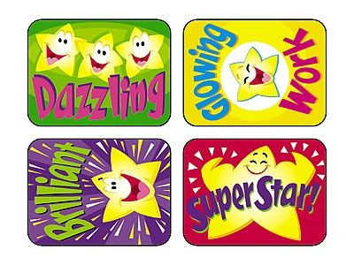 TREND's Super Stars Applause reward stickers contain motivating messages and vibrant designs that make it easy to inspire children of all ages Acid-free, non-toxic, and safe for use on photos.