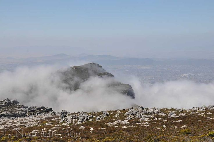 The misty tabletop, Table Mountain, Cape Town, South Africa  Landmarks Nomadic Existence