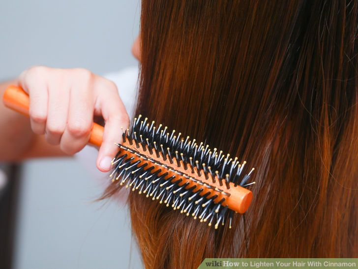 Lighten hair with cinnamon