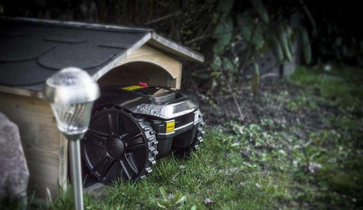 Rasenmäher Roboter Garage