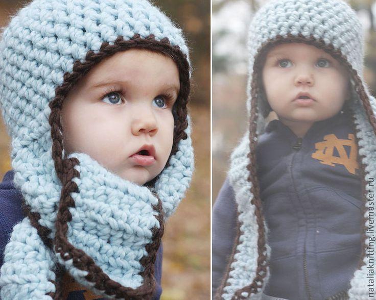 Купить Шапка-шарф - шапка вязаная, шапочка крючком, шапка детская, шапочка детская
