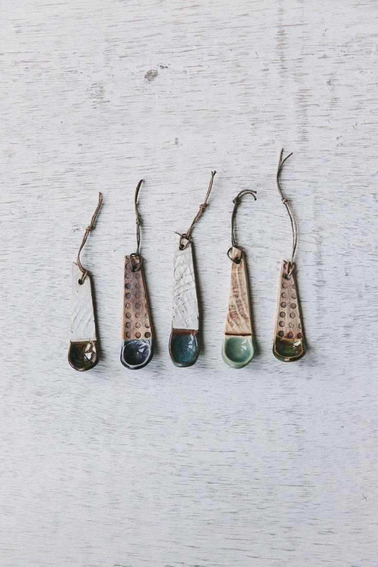 .// Unique handmade ceramic spice spoons. Pinned by Ellen Rus.