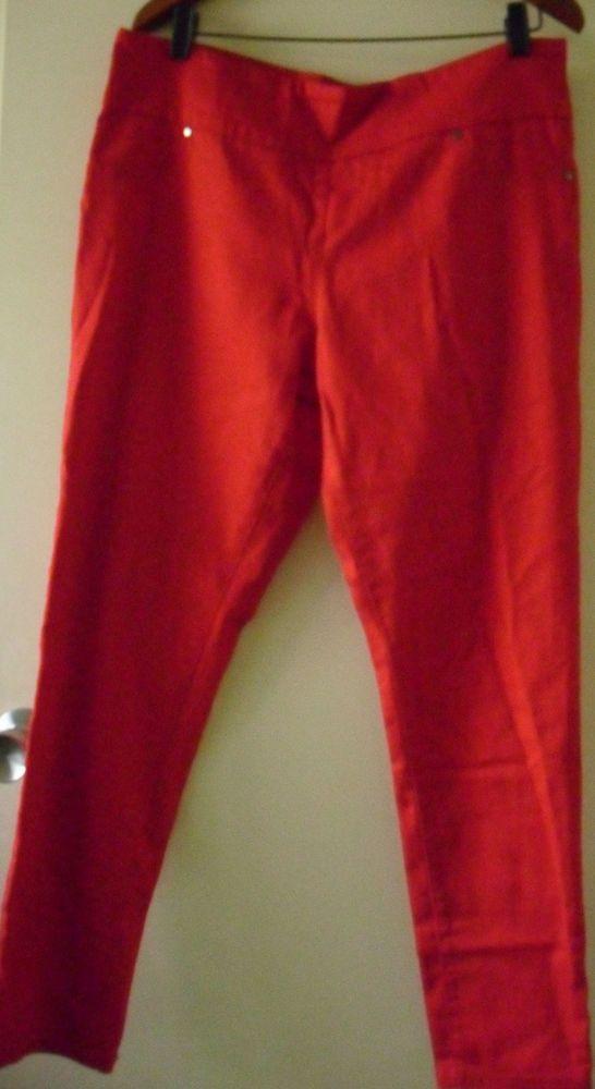 XRD DENIM jegging size 16 orange bnwt