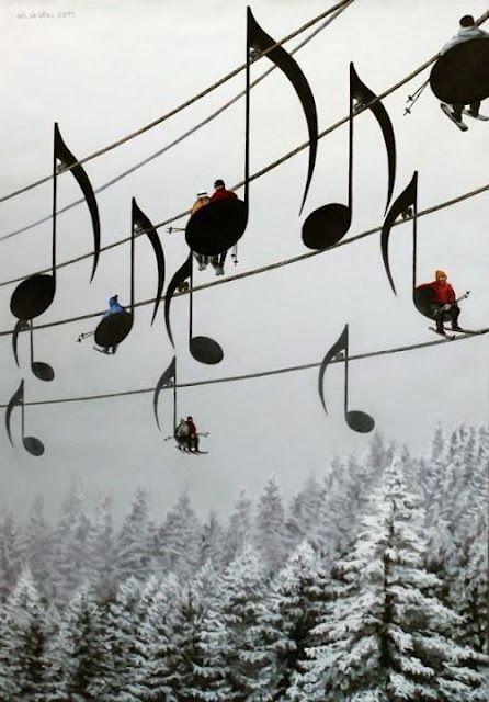a Musical Ski Lift in France