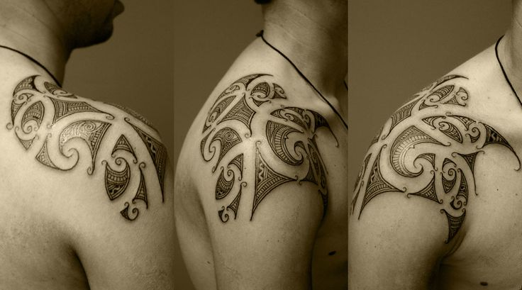 new-zealand-maori-kirituhi-custom-shoulder-tattoo-design-10-o-o-tattoodonkey. Nice example of Maori style that I like. I like the design lines within the positive space.