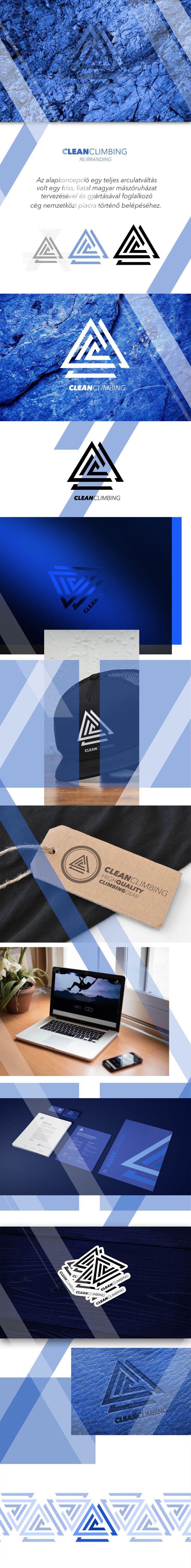 CLEAN CLIMBING ReBranding - Alternate version https://www.behance.net/gallery/47096931/CLEAN-CLIMBING-ReBranding-Alternate-version #branding