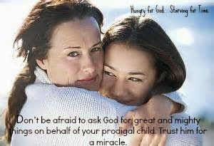 """Parenting a Prodigal:  Six Reasons to Have Hope...very sweet article...""""Brokenhearted mama, it's OK to cry. But cry in the arms of your Savior. Don't be afraid to ask him for great and mighty things on behalf of your child. Trust him for a miracle."""""""