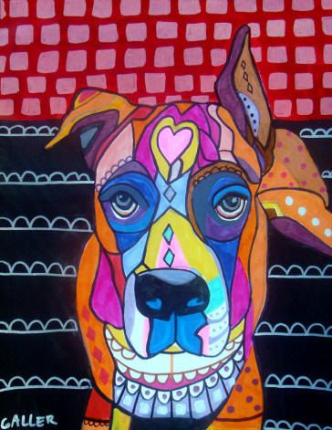 Dog Print  Dog Art  Boxer Dog Art PRINT Poster by HeatherGallerArt, $24.00