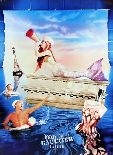 Jean Paul Gaultier perfume ad #mermaid #siren