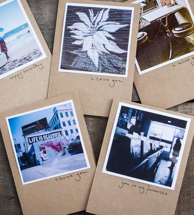 Polaroid Blank Greeting Cards - Set of 5 By Pockets of Film. Simple cards with original polaroid photos.
