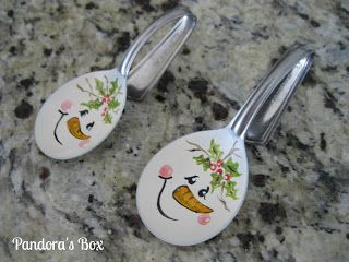 Pandora's Box: Christmas Skates and Snowman Spoons