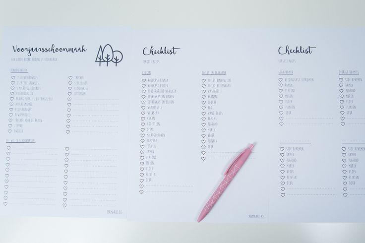 Voorjaarsschoonmaak checklist