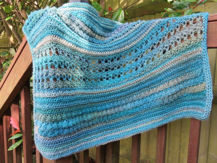 Unforgettable Hazel Birthday Blanket/Lapghan | The lacy mesh strip really gives this lapghan that little extra something for a truly unforgettable present