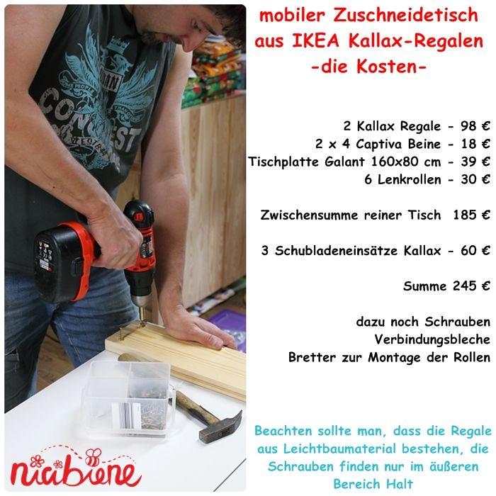 Kallax Nähtisch, Zuschneidetisch, expedit, cutting Table, capita, Galant