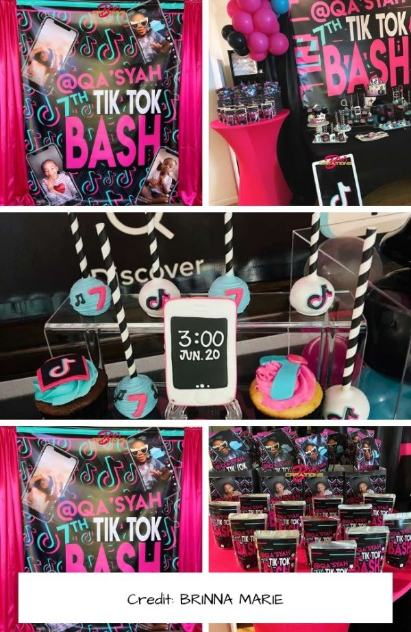 Tiktok Themed Party Collection Real Party Photos Party Themes Birthday Party Decorations Happy Birthday Bunting