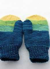Grammy's Mitts by Tanis Lavallee - great destash project, free Ravelry download
